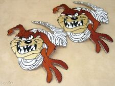 Seat Covers Shirt 2 x Tasmanian Devil Taz Embroidered Sew On Iron on Patch Badge