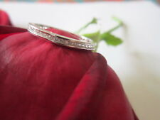 Sterling Silver Comfort Eternity Ring Stackable with CZ 925 silver 2.3mm size 7