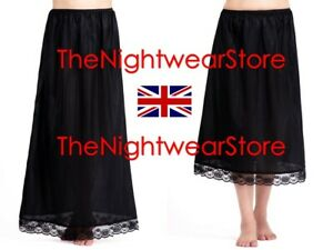 """⭐Waist Slip Half Full Slips Ladies Black White Underskirt Petticoat 28"""" - 39""""⭐"""