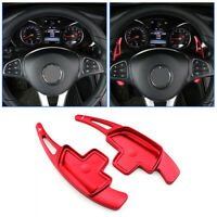 Red Carbon Fiber Steering Wheel Paddle Shifter For Mercedes Benz AMG A C CLA