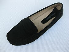Pierre Dumas Womens Shoes NEW $45 Driving Black Perf Loafer Driver 6 M
