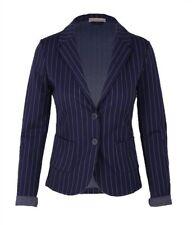 ESViviD Jersey Blazer Gr. XXL 42 44 tailliert dunkelblau weiß Nadelstreifen