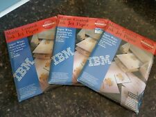 """IBM Matte Coated Ink Jet Paper Super White Heavyweight 8.5x11"""" 3 packs-50 sheets"""
