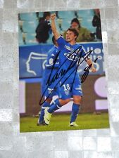 Photo 10x15 signed signée YANNICK CAHUZAC scb SC BASTIA foot ultras corsica