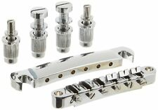 Tune-O-Matic Bridge w Tailpiece 1 Set Complete ABR-1 Style Gibson Chrome New
