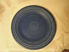 "Dark Blue Post-82 10.5"" Fiesta Dinner Plate Homer Laughlin"
