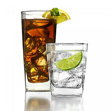 Glassware 16 Piece Clear Drinkware Set 8-Double Old Fashioned And 8-Highball