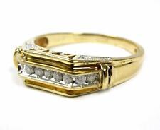 Estate Elegant Men Diamond DAD Ring 10K Yellow Gold Size 14.5 HD Video
