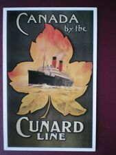 POSTCARD CANADA BY THE CUNARD LINE POSTER