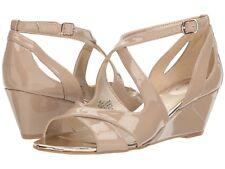 Bandolino Women's Omit Wedge Sandals Size 6 Cafe Latte Patent