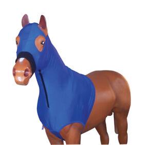 Horse Hood Bib Shoulder Lycra Skinny Hoodie Neck Zip+Belly Surcingle Pony-Xlarge