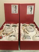 Beautiful 6 Piece Porcelain Tea Set Brand New In Box. 2 Styles You Pick