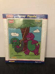Vintage Playskool Puzzle Barney & Baby Bop Backyard Fun 1993 NEW & Sealed