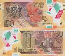 Trinidad and Tobago 50 Dollars (2015) - Polymer/Hibiscus/Cardinal p59 UNC