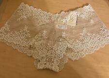 Wacoal embrace lace Panty Xlarge boy short beige / ivory boyshort