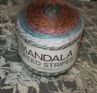 NEW LION BRAND MANDALA TWEED Blue and Orange Cake Yarn 4 Medium 150 g 552 216