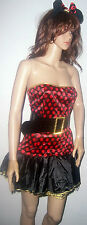 Hot Minnie Mouse Red Black Gold Costume 8 10 Lingerie Valentines womens
