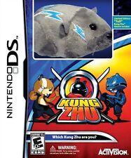 Nintendo DS Zhu Zhu Pets Kung Zhu Video Game+Tull Hamster Electric Plush Toy NDS