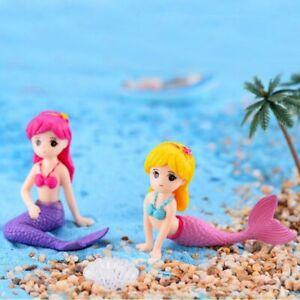 Aquarium Mermaid Micro Landscape Fish Tank Aquarium Ornament Cute Decor Desk Pet