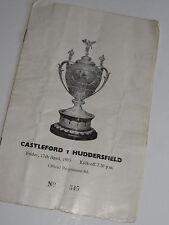 Castleford V Huddersfield Rugby PROGRAMMA UFFICIALE 17TH APRILE 1970 N. 345