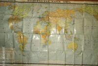 Political Map of the World  printed in the USSR in 1982