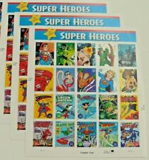 Three Sheets x 20 = 60 of DC Comics SUPER HEROES 39¢ US Postage Stamps Sc # 4084