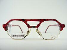 FILOU Brillenfassung ausgefallenes Design gold-pink Intellektuellenbrille Gr. S