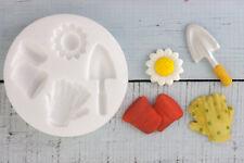 Stampo in silicone giardinaggio attrezzi SPATOLA, impianto POT cibo sicuro ellam Sugarcraft M06
