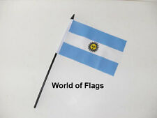 "ARGENTINA SMALL HAND WAVING FLAG 6"" x 4"" Argentine Crafts Table Desk Display"