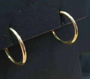 Ohrringe 333 GOLD 8 Karat Gelbgold boucle oreille Kreolen Creolen earrings