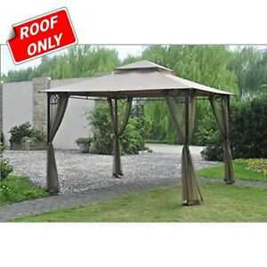 Sunjoy Replacement Canopy Set for L-GZ136PST-F 10'x10' Claremont Gazebo
