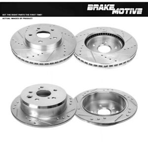 For 2006 2007 2008 2009 2010 2011 2012 2013 LEXUS IS250 Front+Rear Brake Rotors