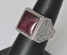 Konstantino Men's Etched Ring Size 11 Ruby Root Sterling Silver  Heonos New