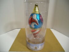 "2012 Jim Shore Holiday Extra Large 11"" Glass Teardrop Christmas Tree Ornament"