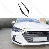 for HYUNDAI Elantra 2017-2018 shiny black Front Headlight Lamp Eyelid Covers