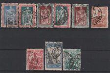 FRANCOBOLLI - 1928 REGNO EMANUELE FILIBERTO 9 VALORI USATI Z/7464