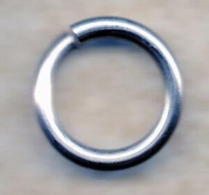 real 925 sterling silver jump end rings 5mm 10mm 11mm 14mm jewelry making repair