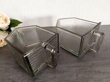 zwei  große Glasschütte  Glas Schütte Pressglas Vorratsgefäße