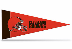 """New  NFL Cleveland Browns Mini Pennant  9""""x4"""" (22 x 9 1/2 cm) Made in USA Banner"""