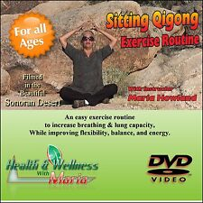 """""""Sitting Qi-Gong"""" for Seniors, Improve Your Breathing and Flexibility, Dvd"""