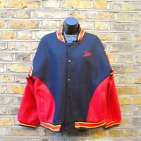 Speedo Men's Black & Red Wool Blend Vasity Bomber Jacket Size Medium Vintage