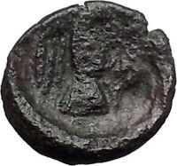 CHALKIS in EUBOEA 290BC Hera Eagle Serpent Authentic Ancient Greek Coin i48794