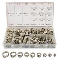 170 x Ohrschellen 5,8-21mm 1 Ohr Schlauchklemmen Sortiment Schlauchschellen Set