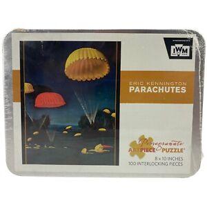 "Artist ERIC KENNINGTON PARACHUTES (1941) Artpiece Puzzle In Tin 100 Pieces 8x10"""