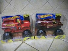 LOT OF 2 HOT WHEELS MONSTER JAM DIECAST 1:24 TRUCK IRON MAN & BACKDRAFT