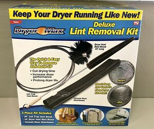 NEW Ontel Dryer Max Deluxe Dryer Lint Removal Kit, As Seen on TV 10' Long