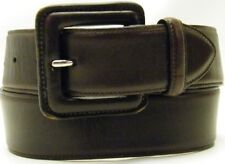 WOMEN COLE HAAN USA WIDE BROWN LEATHER JEANS DRESS BELT SIZE XS EXTRA SMALL