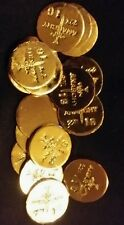 (2) 1 GRAM BAR USA BULLION 1g 22K PLACER GOLD ROUNDS FROM MINE Y LOT 22 ANARCHY