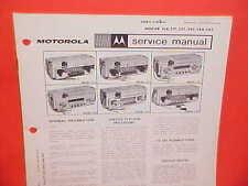 1963 PLYMOUTH VALIANT BELVEDERE DODGE DART POLARA MOTOROLA RADIO SERVICE MANUAL