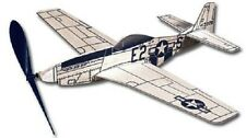 Mustang: West Wings Rubber Powered Balsa Wood Flying  Model Plane Kit WW417